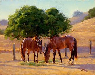 pinturas-diseños-impresionismo-corceles
