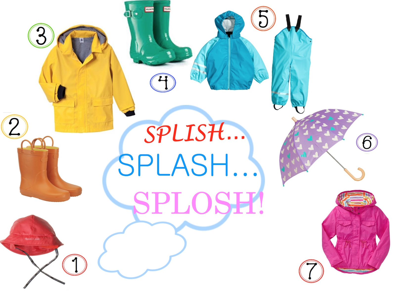 A Rainbow Inspired Wet Weather Wardrobe For Boys And Girl