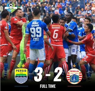 Video Cuplikan Pertandingan Persib vs Persija 3-2 Liga 1 Minggu 23/9/2018