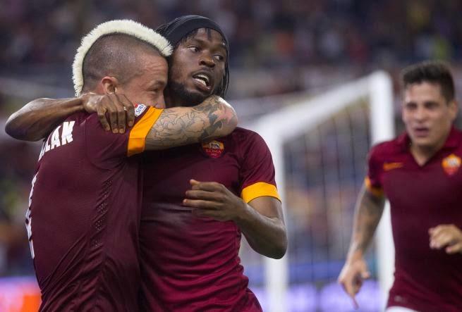 Naingoolan e Gervinho i protagonisti di Roma - Fiorentina. foto: tgcom24.mediaset.it