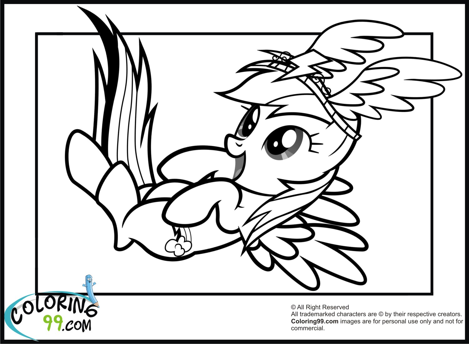 Rainbow Dash Coloring Pages | Minister Coloring