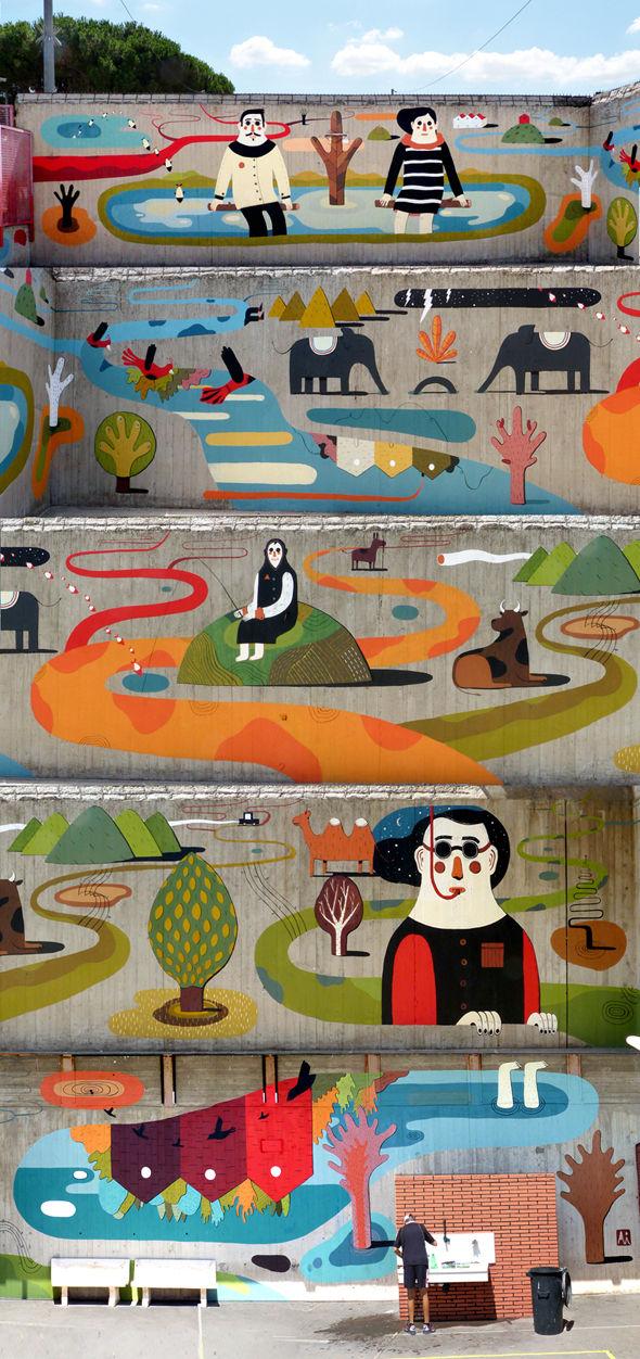 Уличный художник из Италии. Агостино Якурчи (Agostino Iacurci) 33