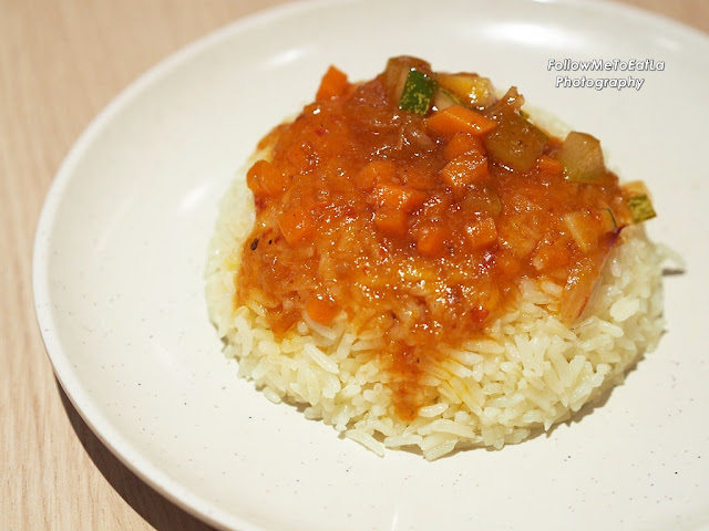 Prosperity Rice Topped with Sweet & Sour Sauce