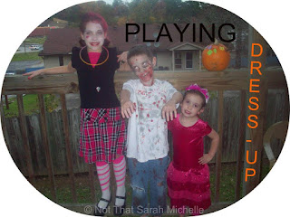 Blog With Friends, Tricks and Treats | Playing Dress-Up by Sarah of Not That Sarah Michelle | shared on www.BakingInATornado.com | #Halloween