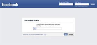 Lupa Password Facebook