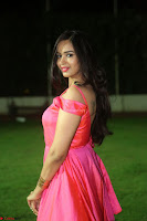 Actress Pujita Ponnada in beautiful red dress at Darshakudu music launch ~ Celebrities Galleries 091.JPG