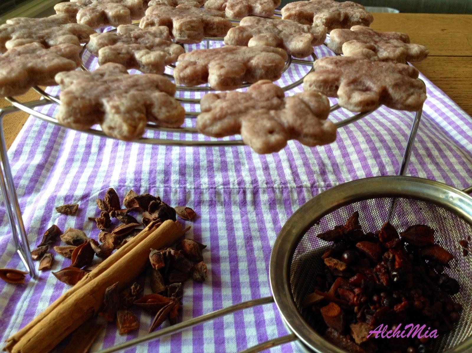 Fotografia dei biscotti al vin brulè dal blog AlchiMia