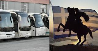 375 λεωφορεία θα ανέβουν στην Θεσσαλονίκη για το συλλαλητήριο για την Μακεδονία