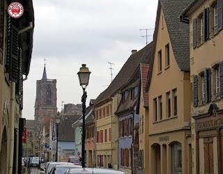 Calles de Rouffach, Alsacia, Francia