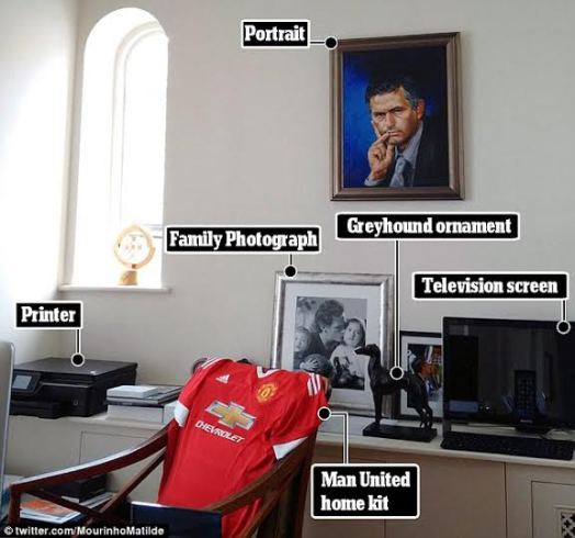 1 Photo: See Jose Mourinho's office at Manchester United