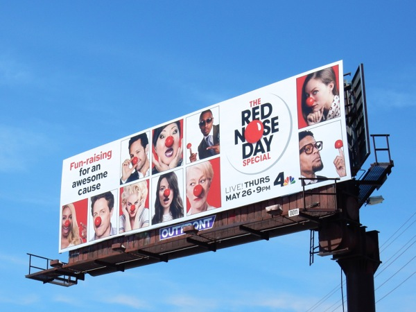 Red Nose Day USA 2016 billboard