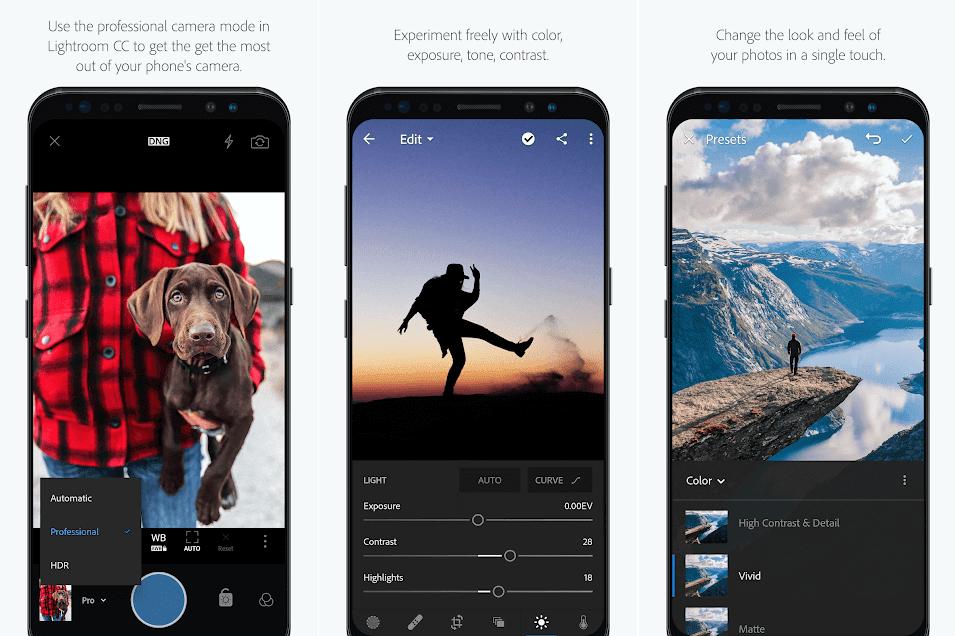 تطبيق Photoshop Lightroom CC لاضافة التأثيرات على الصور لهواتف الاندرويد