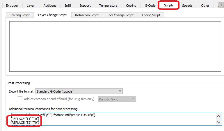 Replacing tool heads in scripts