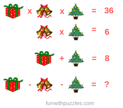 Christmas Brain Teasers With Answers.Mathematics Picture Equations Brain Teasers For Teens With