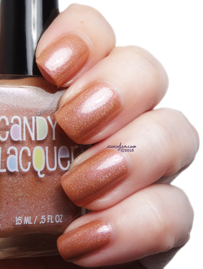xoxoJen's swatch of Candy Lacquer Peanut Butter Girl