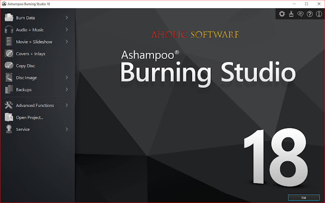 Ashampoo Burning Studio allows you to burn all types of media; movies, music or files.