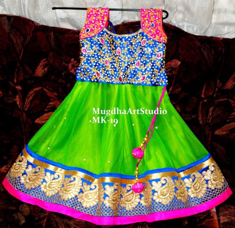 Kids Lehengas By Mugdha Art Studio South India Fashion