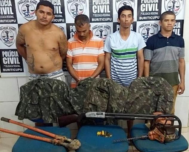 Polícia prende 5 envolvidos no assalto ao Bradesco de Buriticupu
