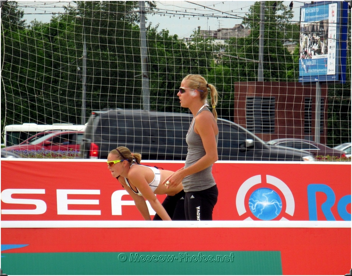 Kolocova Kristyna & Slukova Marketa at Moscow Tour 2010