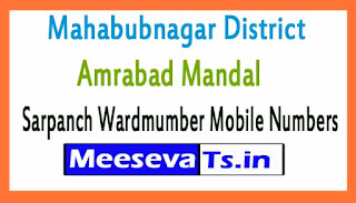 Amrabad Mandal Sarpanch Wardmumber Mobile Numbers List Part I Mahabubnagar District in Telangana State