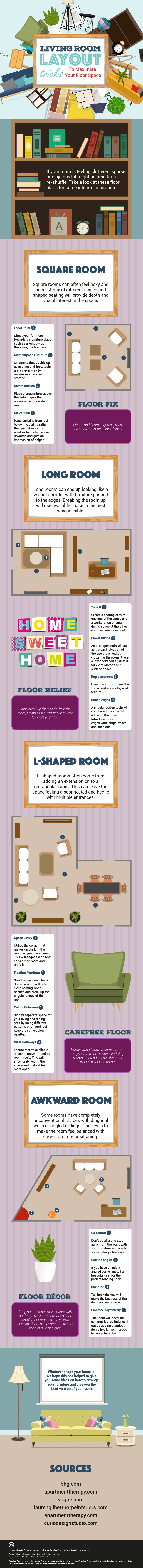 Living Room Layout Tricks To Maximise Your Floor Space