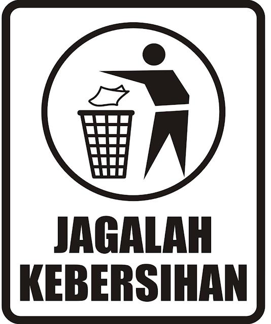 Design Warning Stiker Jagalah Kebersihan