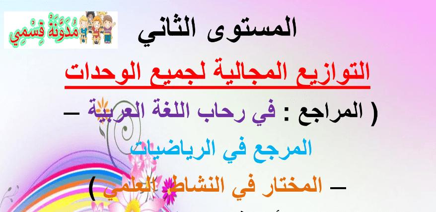 التوزيع المجالي في رحاب اللغة العربية