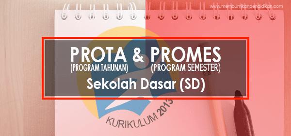 Prota dan Promes SD Kelas 1, 2, 3, 4, 5 dan 6 Kurikulum 2013