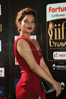 Natasha Nebasha in a Leg Slit Sleeveless Stunning Red Gown at IIFA Utsavam Awards 2017 075.JPG