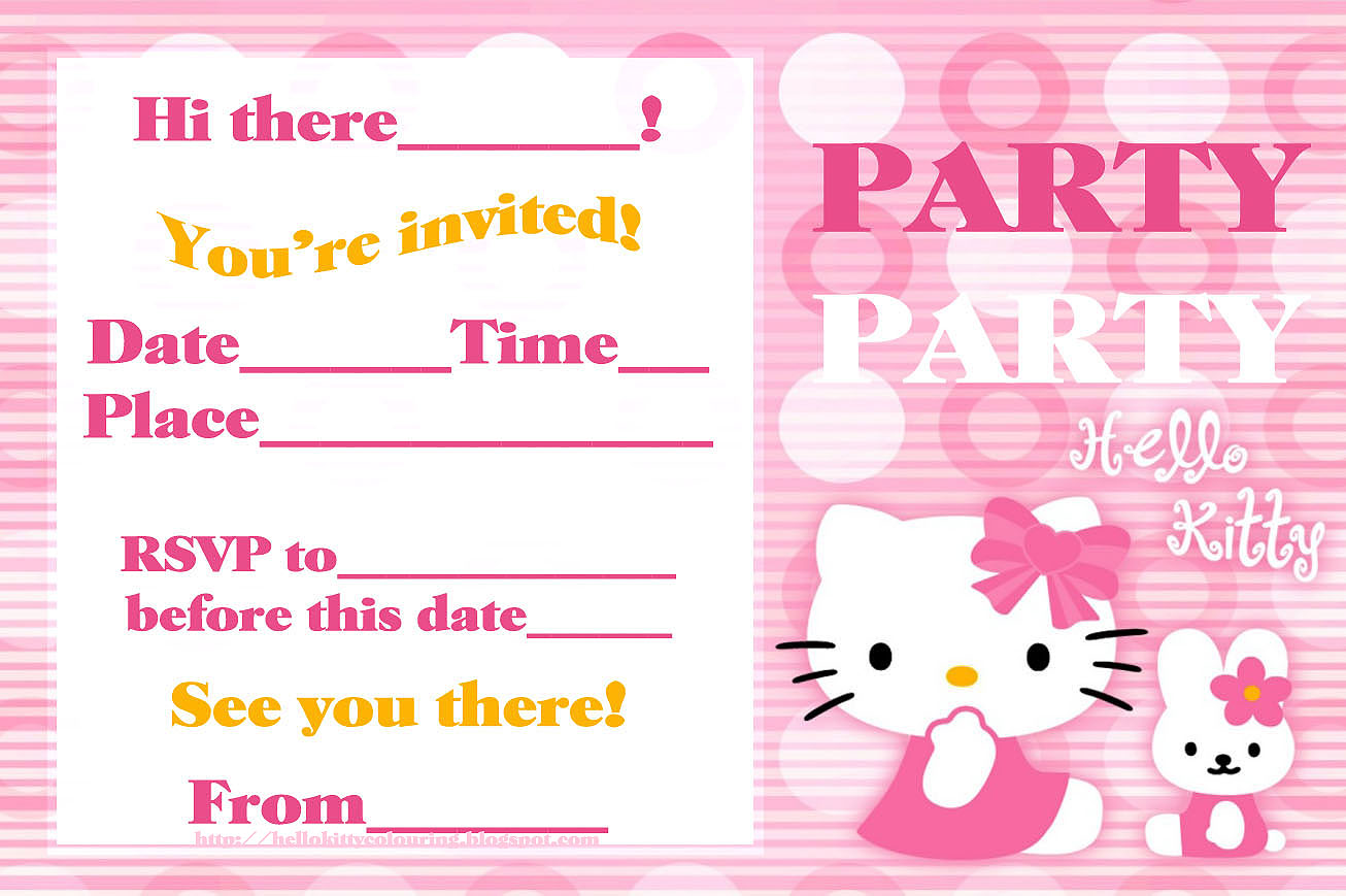FREE PRINTABLE HELLO KITTY PARTY CARDS INVITES. 1306 x 869.Free Hello Kitty Valentine's Day Cards