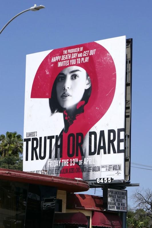 Truth or Dare movie billboard