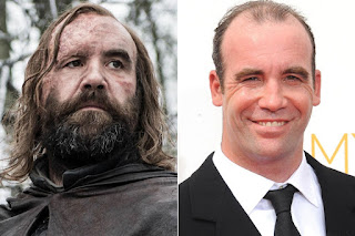 Game of Thrones actors with and without their beards,The hound / Rory McCann