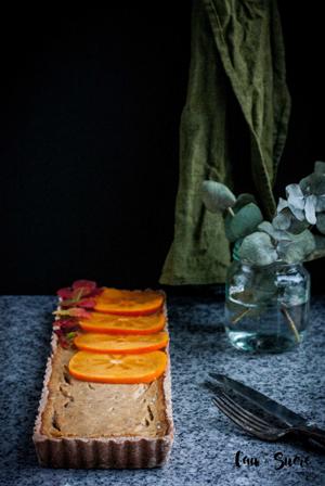 recetario-dulce-caqui-reto-disfruta-noviembre-tarta-vegana