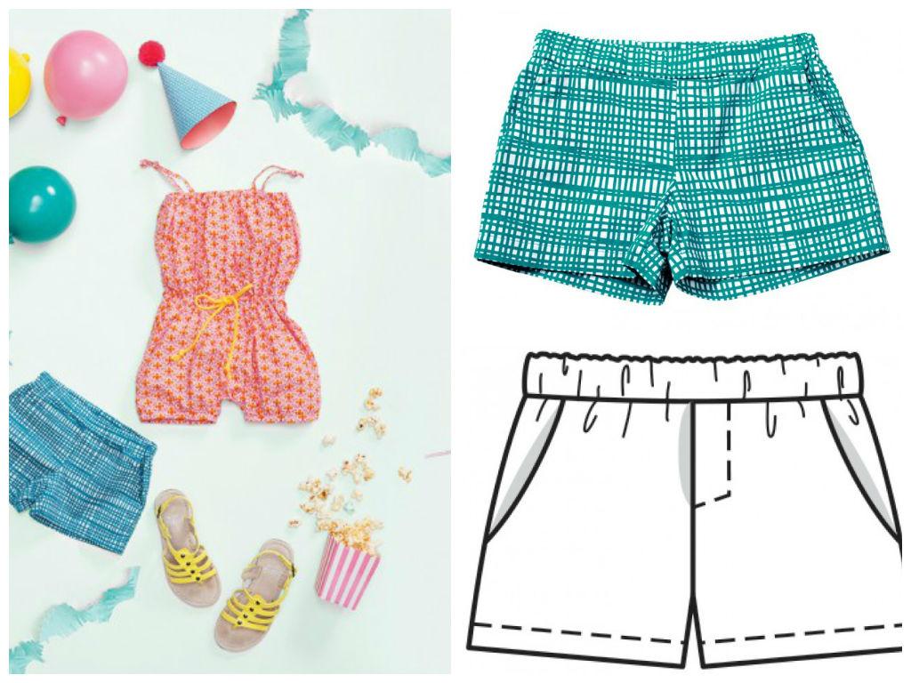 Pantalón corto niña | Con hilos, lanas y botones
