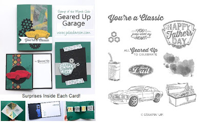 Stampin' Up! Geared Up Garage Card Kit for March 2019 Stamp of the Month Club by Julie Davison www.juliedavison.com/clubs