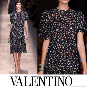 Crown Princess Mette-Marit wore Valentino Dress-Spring 2013 Ready-to-Wear