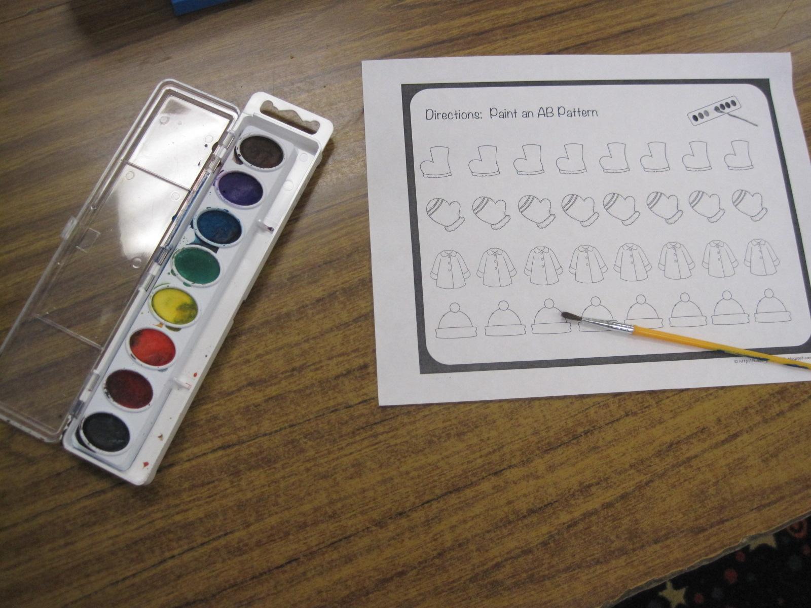 Kindergarten Faith Winter Patterns Amp Back To School