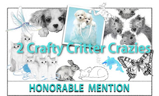 Honorable Mention at 2 Crafty Critters Crazies