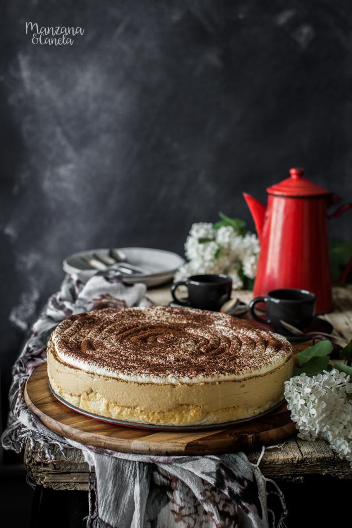 Cappuccino cheesecake. Receta muy fácil sin horno.