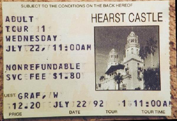 Informações sobre o Hearst Castle na Califórnia