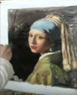 peinture à la main sur toile