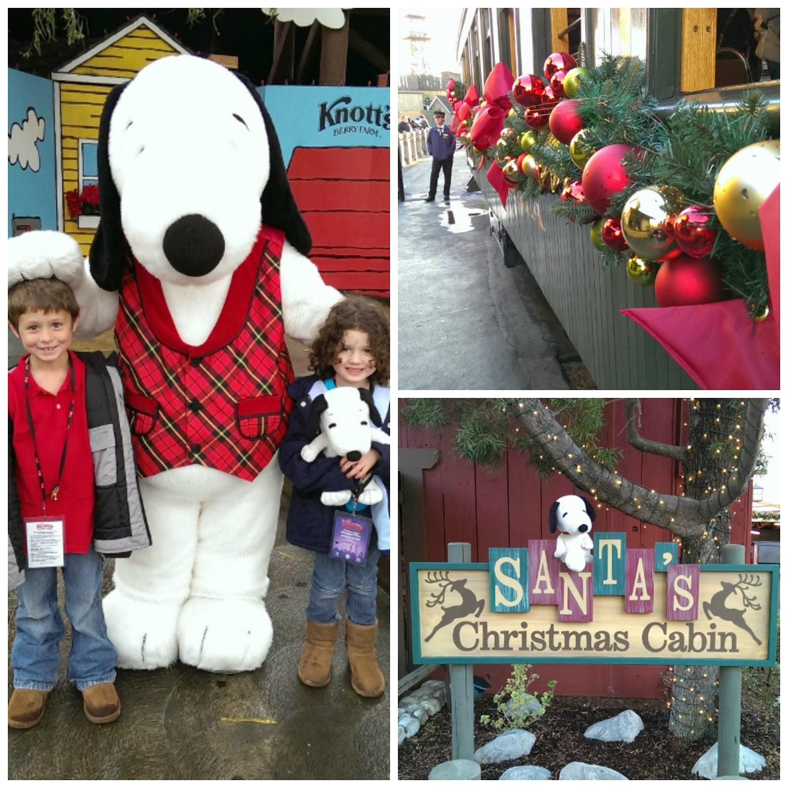 Snoopy, Santa, Train
