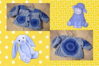 crochet baby retro cardigan