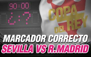 wanabet promocion Sevilla vs Real Madrid copa 12 enero