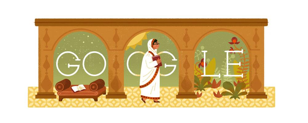 doodle do Google pelos 137 anos de Roquia