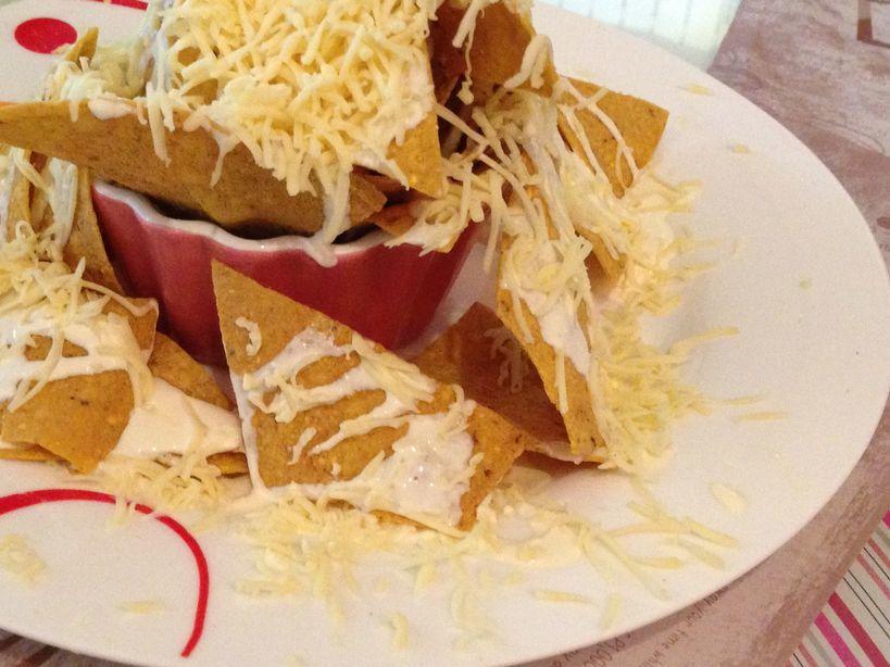 A plate of nachos at Tea Tree Café