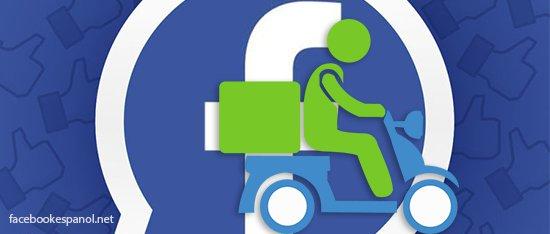 comida a domicilio con Facebook