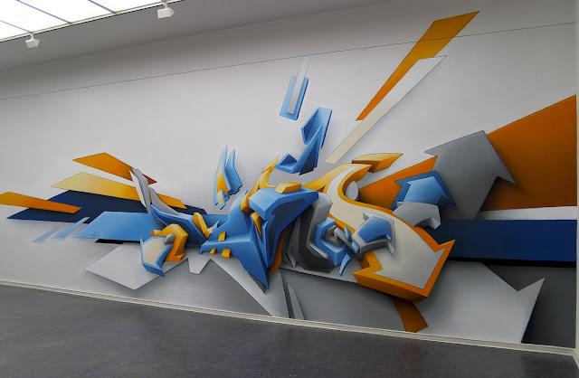 lukisan graffiti 3d