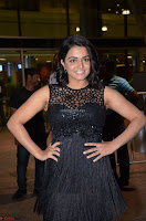 Wamiqa Gabbi in a sleeveless Black Designer Transparent Gown at 64th Jio Filmfare Awards South ~  Exclusive 054.JPG
