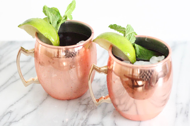 Blueberry Gin Mule